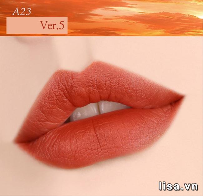 A23 Vintage Sunset - Cây son Son Black Rouge cam đất tuyệt đẹp