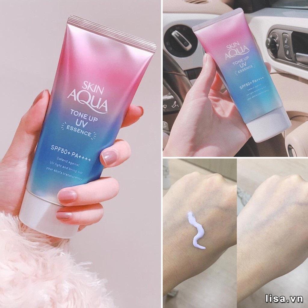 Kem chống nắng Rohto Skin Aqua Tone Up Essence lành tính, dùng được cho da nhạy cảm