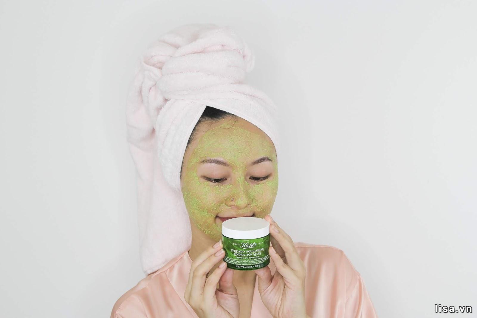 Mặt nạ Kiehl's Avocado Nourishing Hydration Mask giúp bạn lấy lại làn da căng bóng, mịn màng