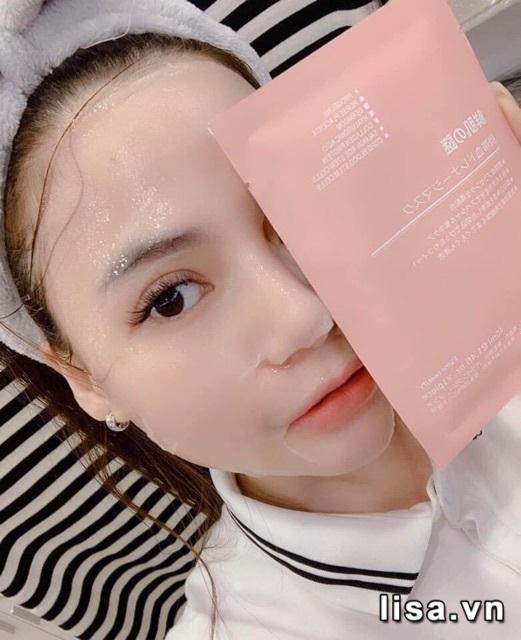 Sau các bước làm sạch da chị em hãy đắp mặt nạ Rwine Beauty Nhật Bản lên mặt, để khoảng 30 phút
