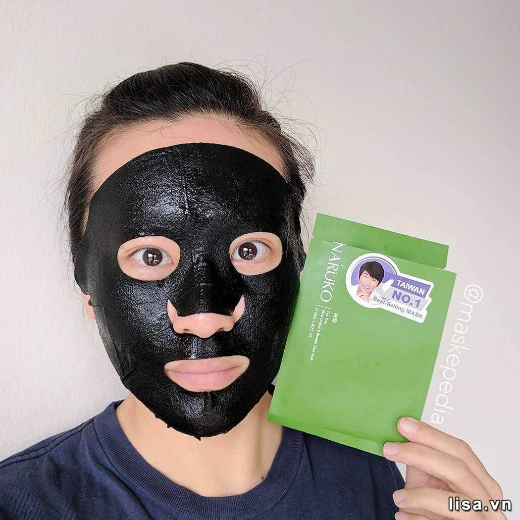 Sử dụng mặt nạ tràm trà Naruko Tea Tree Shine Control & Blemish Clear Mask hàng tuần bạn sẽ thấy da dần thay đổi khác biệt