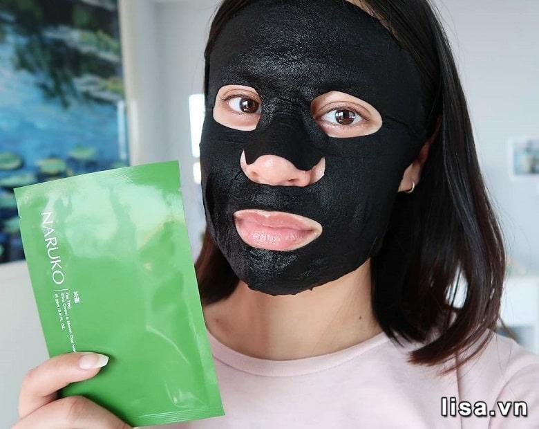 Mặt nạ tràm trà Naruko Tea Tree Shine Control & Blemish Clear Mask chứa nhiều dưỡng chất tốt cho da