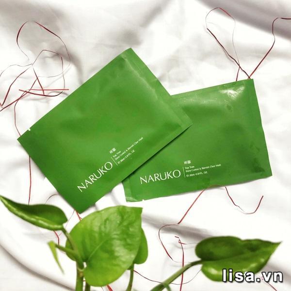 Mặt nạ tràm trà Naruko Tea Tree Shine Control & Blemish Clear Mask được chiết xuất tự nhiên, lành tính