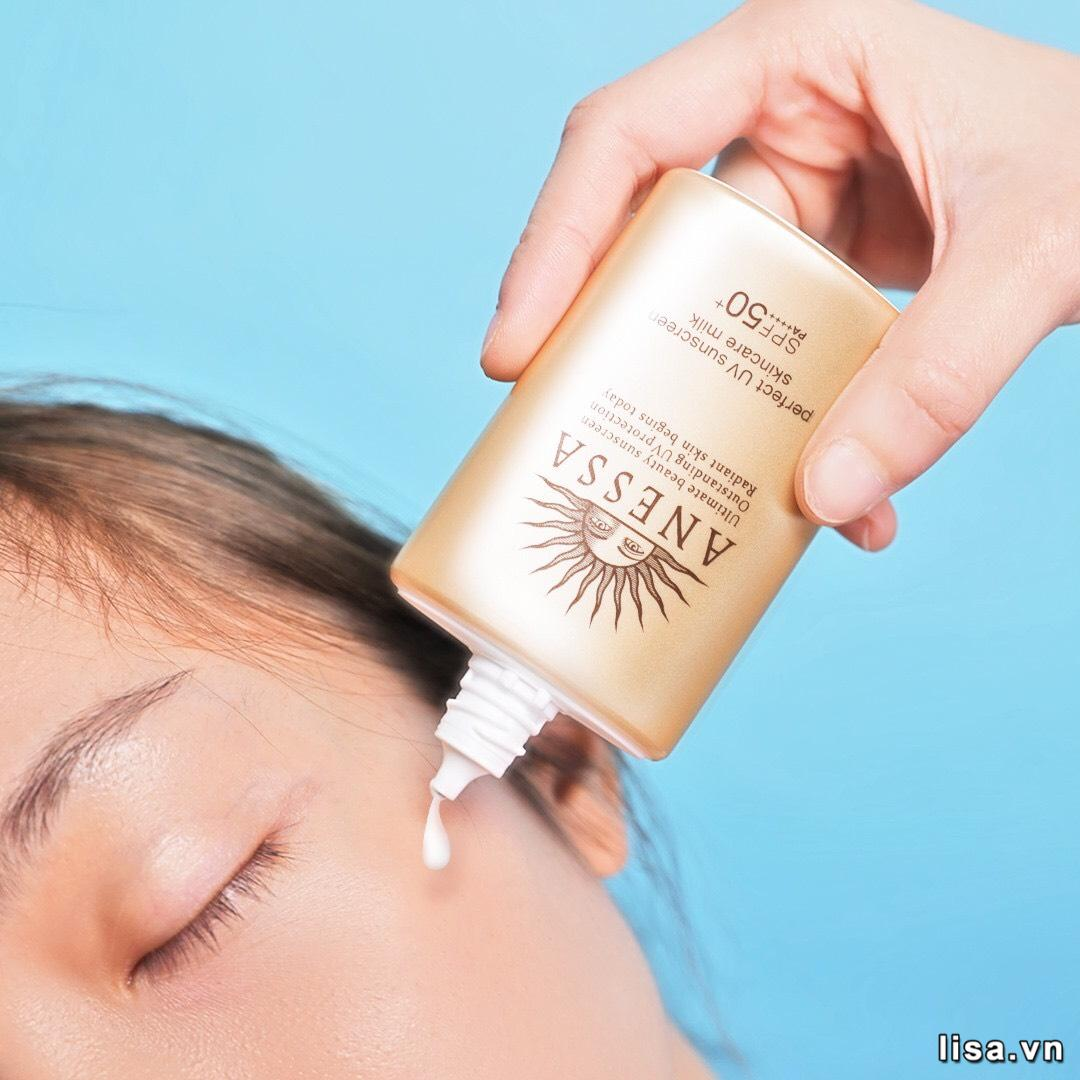 Sữa chống nắng Anessa Perfect UV Sunscreen Skincare Milk SPF50+/PA++++ chống nắng, chống trôi, chống nước tốt