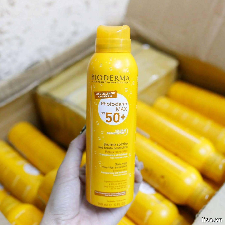 Xịt chống nắng Bioderma Photoderm Max Brume Solaire SPF 50+ có khả năng chống nắng tốt