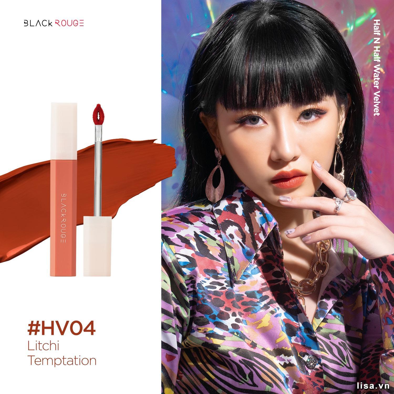 Son Black Rouge Half N Half Màu HV04 Litchi Temptation