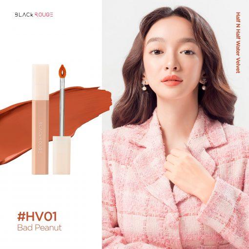 Son Black Rouge Half N Half Màu HV01 Bad Peanut - Cam Nude 2