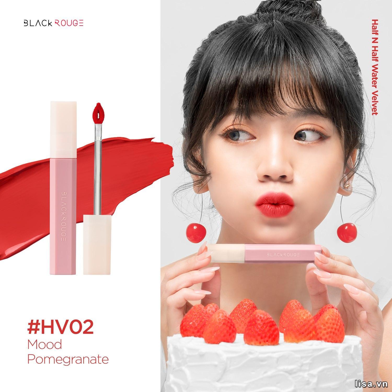 Son Black Rouge Half N Half Màu HV02 Mood Pomegranate