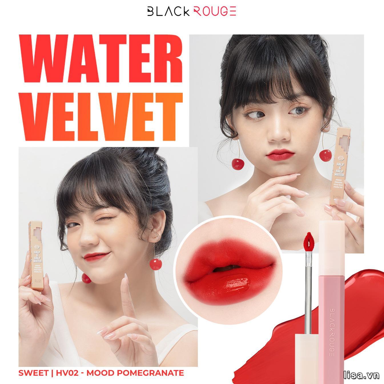 Son Black Rouge HV02 là màu gì? Son có màu đỏ hồng lựu ngọt ngào