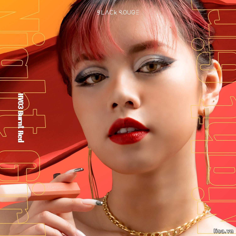Son Black Rouge HV03 là màu gì? Son có màu đỏ chili sang chảnh, hợp với nhiều style