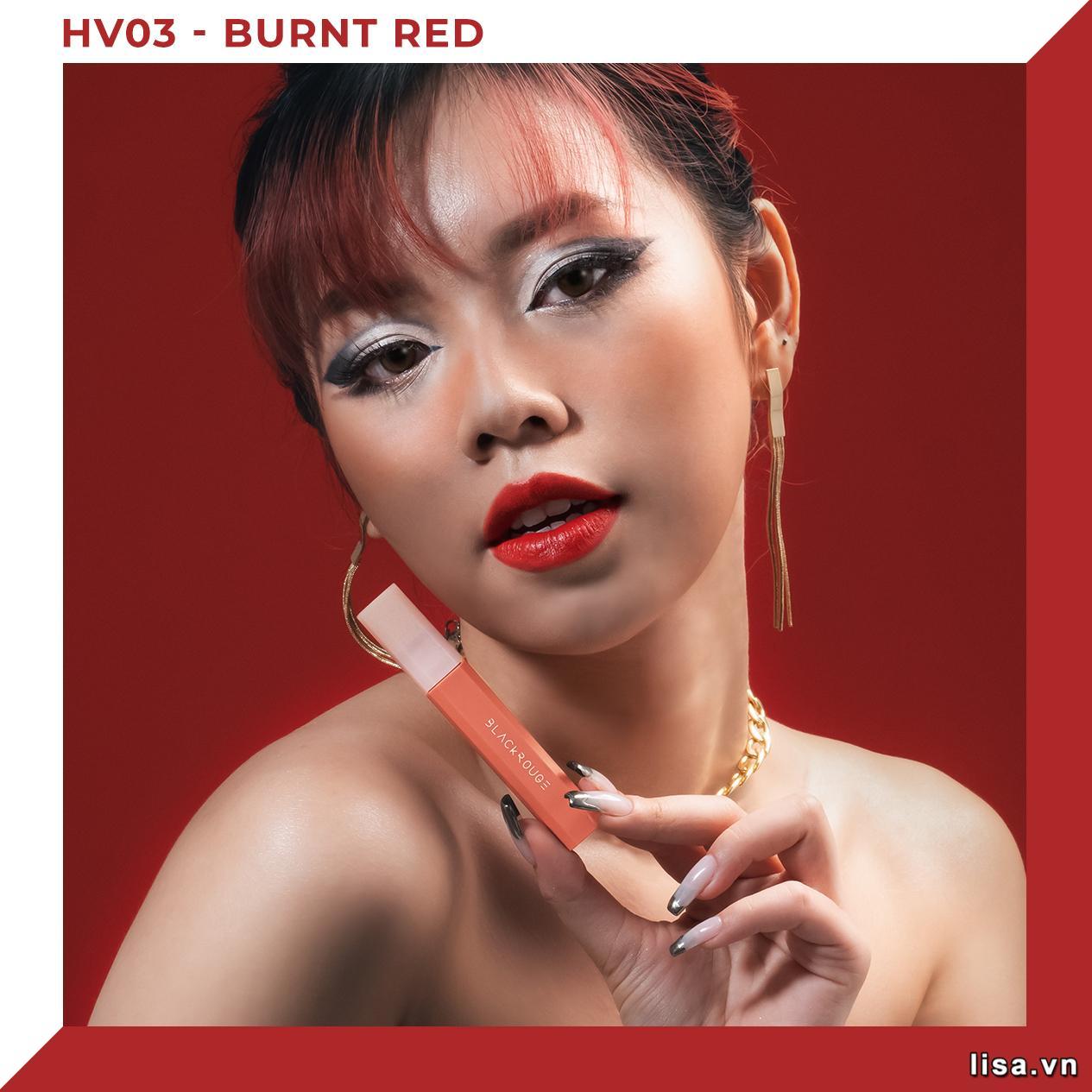 Thành phần son Black Rouge Half N Half Màu HV03 Burnt Red giàu dưỡng chất