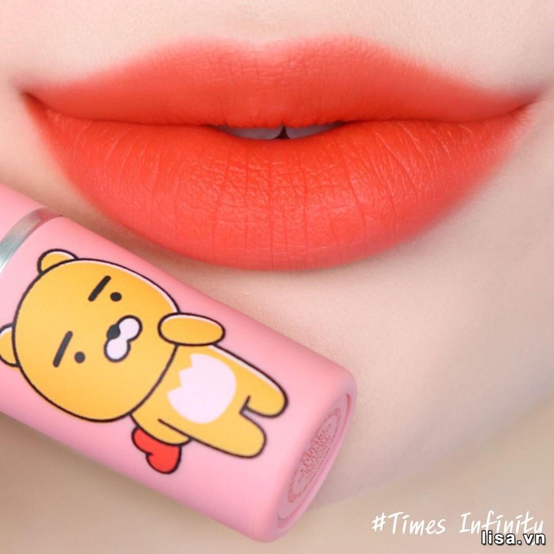 Chất son MAC x Kakao Friends Times Infinity mịn màng, che khuyết điểm môi tốt