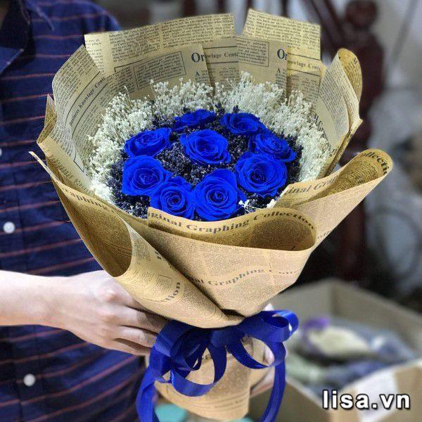 Bó hoa hồng bất tử mang ý nghĩa về một tình yêu còn mãi với thời gian – món quà tặng bạn gái kỷ niệm 1 năm yêu nhâu tuyệt vời