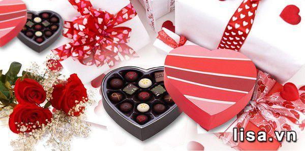 Nhiều người lựa chọn Chocolate làm quà tặng Valentine