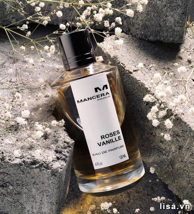 Mancera Roses Vanille EDP - Thiết kế đơn giản, mùi hương nồng nàn