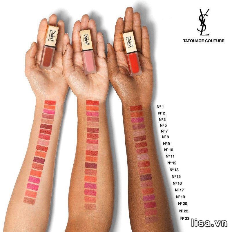 Bảng màu YSL Tatouage Couture đẹp thách thức mọi ánh nhìn