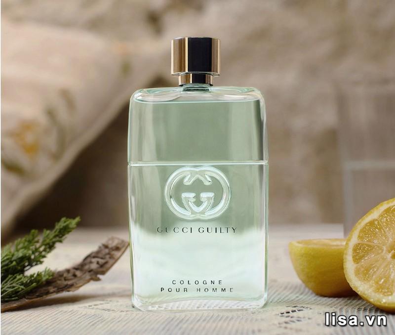 Gucci Guilty Cologne Pour Homme mở đầu với hương cam bergamot thanh mát